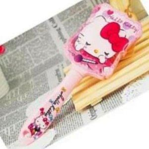 Hello Kitty Paddle Brush Pink Kitty with Red Bow